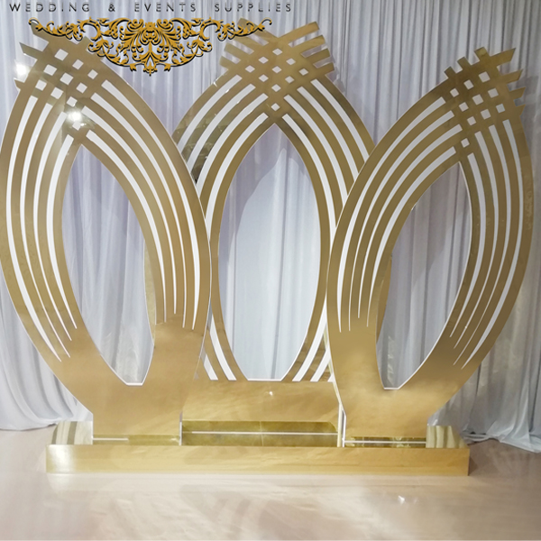 Golden TROVAL Wedding Backdrop SF-BJ05 Featured Image