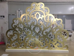 Heart Golden Mirror Wedding Backdrop SF-BJ03