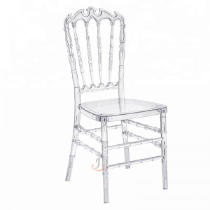 Resin Clear Crown chair SF-RCC05
