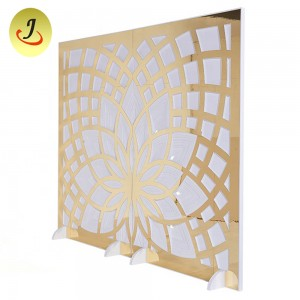 Wedding furniture white pvc wedding floral backdrop for events SF-BJ07