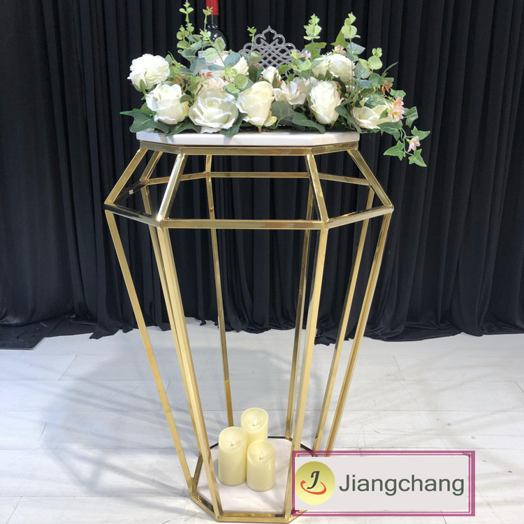 Furniture-wedding-stainless-steel-diamond-shape-flower