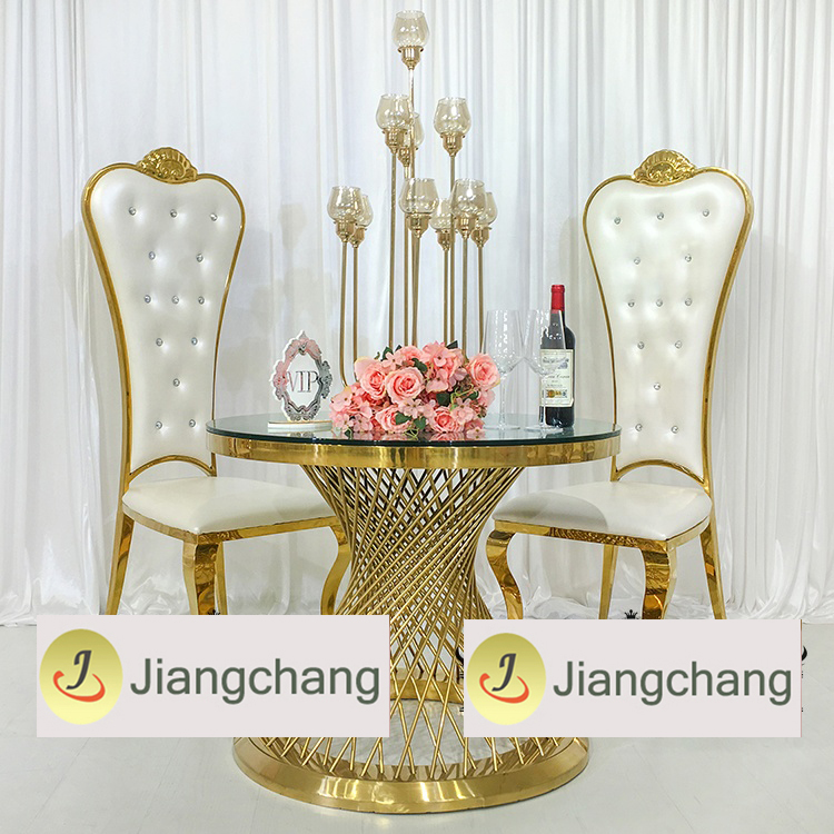 Wholesale-gold-stainless-steel-love-table-for