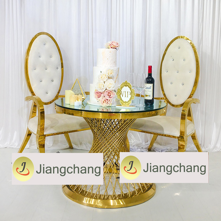 Wholesale-stainless-steel-frame-round-table-for