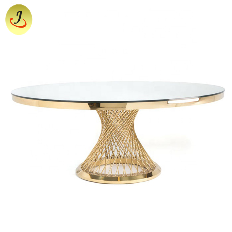 stainless-steel-round-mirror-glass-wedding-table